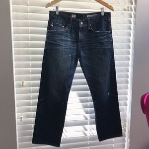 Ag Adriano Goldschmied Jeans - AG Ex Boyfriend Crop Distressed Jeans